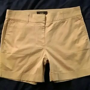 New J Crew 4 Chino Shorts Tan 5in Inseam